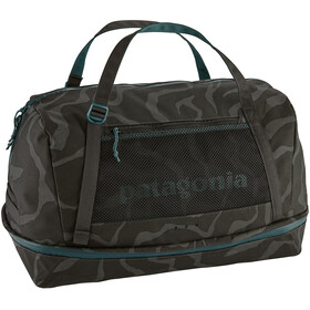 Patagonia Planing Duffel Bag 55L, tiger tracks camo/ink black